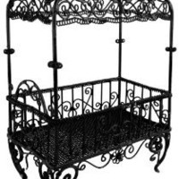 Amazon.com: 6 inch Handmade Vintage Victorian Canopy Style Black Dcor Table Top Earrings Necklaces Bracelets Jewelry Holder / Organizer Stand / Display Rack: Clothing