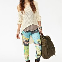 Mapped Leggings - Black