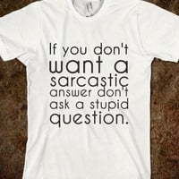 Sarcastic Answer - glamfoxx.com