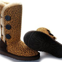 UGG Bailey Button Triplet 1873 Boots Leopard Outlet UK
