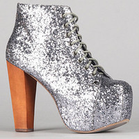 The Lita Shoe in Pewter Glitter : Jeffrey Campbell : Karmaloop.com - Global Concrete Culture