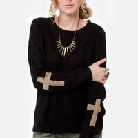 Cross Your Arms and Looking Fly Black Sweater