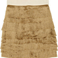 Robert Rodriguez Fringed silk-blend mini skirt - 55% Off Now at THE OUTNET