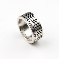 Barcode Ring | Edgy Rings at Pink Ice