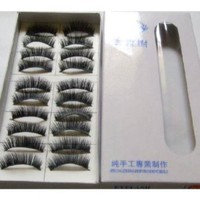 Amazon.com: Black Long False Eyelashes (10 Pairs): Beauty