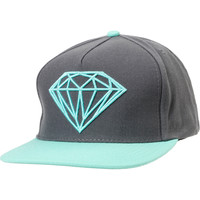 Diamond Supply Brilliant Mint &amp; Grey Snapback Hat