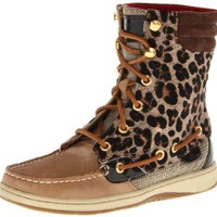 Sperry Top-Sider Women's Hikerfish Boot in Linen/Leopard
