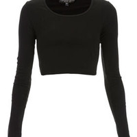 Petite Long Sleeve Crop Tee - New In This Week  - New In