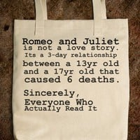 Romeo and Juliet Tote - glamfoxx.com