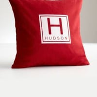 personalized monogram throw pillow cover