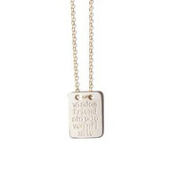 Wisdom Tag Necklace