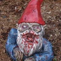Zombie Garden Gnome, &quot;Rising Dead&quot;  (Allow 4-6 weeks for delivery)