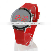 Rubber Round Screen Red Led Watch - Red [#00298957] - US&amp;#36;8.48 : Amazplus.com