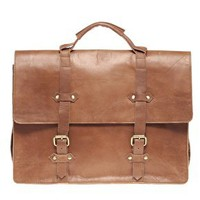 ASOS Leather Old Boy Satchel at asos.com