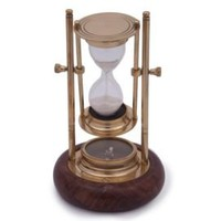 One Kings Lane - Gorgeous Gifts - Hourglass With Compass Base