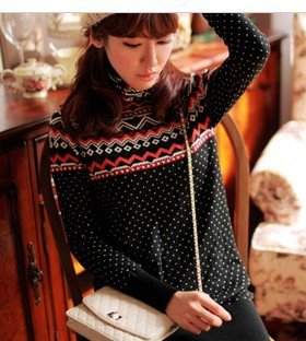 Geometric knit sweater from Fashion Accessories Store