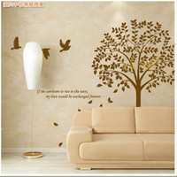 Living Room Birds and Tree Wall Sticker Decal - GULLEITRUSTMART.COM