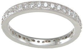 Amazon.com: Sterling Silver Stackable Wedding Band Eternity Anniversary Ring (Sizes 5-10 Available): LaRaso &amp; Co: Jewelry