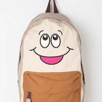 Urban Outfitters - Carrot Happy-Go-Lucky Colorblock Canvas Backpack