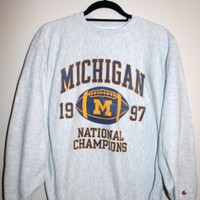 BeWorn — Vintage Grey University of Michigan College Jumper