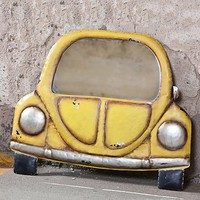 Distressed Vintage Car Mirror - Wind and Weather