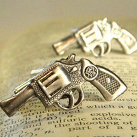 Gun Cufflinks Men&#x27;s Jewelry Accessories &amp; Gifts by CosmicFirefly