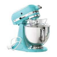 Amazon.com: KitchenAid KSM150PSAQ Stand Mixer, Martha Stewart Blue Collection Artisan 5 Qt. Aqua Sky: Kitchen &amp; Dining