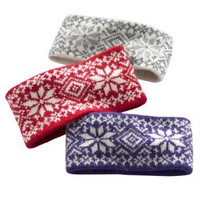 Happy Fashionable Deals! - Woman Within Headband In Softest Knit Wool/Angora In Great Colors (Classic Red,0)