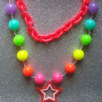 Magical Rainbow Statement Necklace - One of a kind