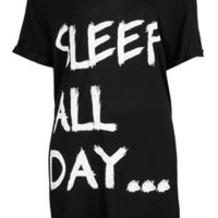 'Sleep All Day' Oversized Tee - New In This Week  - New In