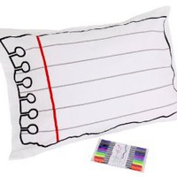 Amazon.com: Doodle by Stitch 200 Thread Count Pillowcase/Pen Set, Standard, White: Home &amp; Kitchen