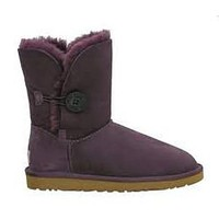 UGG 5803 Blackberry Wine Women's Bailey Button Outlet UK