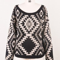 Sparks between Aztec Sweater - Retro, Indie and Unique Fashion