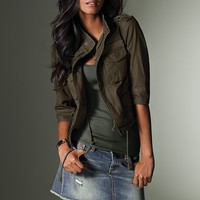 Cropped Military Jacket - Victoria's Secret