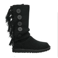 UGG Fringe Cardy 1878 Black Outlet UK