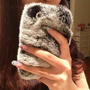 iPhone4/4s iPhone 5 Winter Warm Comfy Rabbit Fur Cover