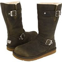 5678 Ugg Women's Kensington Boots Leather Olive Outlet UK