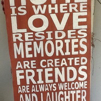 Home Is Where Love Resides Wooden P.. on Luulla