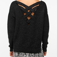 Urban Outfitters - Sparkle & Fade Crisscross Back Sweater