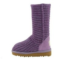 5833 UGG Classic Crochet Purple Outlet UK