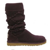 5879 Fig UGG Women's Classic Argyle Knit Outlet UK