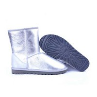 cream ugg classic metallic short boots 5842 Outlet UK