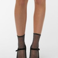 UrbanOutfitters.com > Sheer Sparkle Ankle Sock
