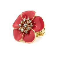 Enamel Flower Stretch Ring: Charlotte Russe