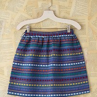 Free People Vintage Woven Striped Mini Skirt