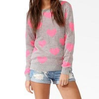 Heart Patterned Sweater | FOREVER 21 - 2031557798
