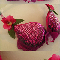 Royal Orchid Ombre Swarovski Crystal Bra
