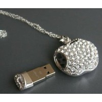 Amazon.com: High Quality 8gb Apple Crystal Jewelry USB Flash Memory Drive Necklace: Computers &amp; Accessories