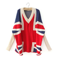 Flag Bat Long Sleeve Sweater
