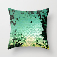 Broken Emerald Throw Pillow by Catherine Holcombe | Society6